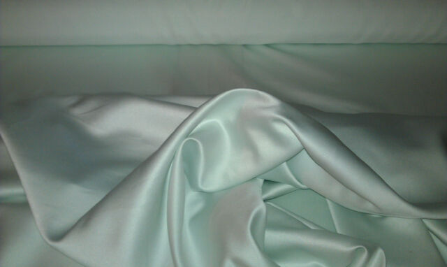 "ALEX BLUE 100% POLYESTER BRIDAL LAMOUR SATIN FABRIC 58"" WIDE BY THE YARD"