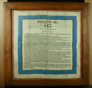 Manifesto-Of-363-1877-Patrice-Mac-Mahon-Monarchist-Duke-Of-Broglie-Scarf
