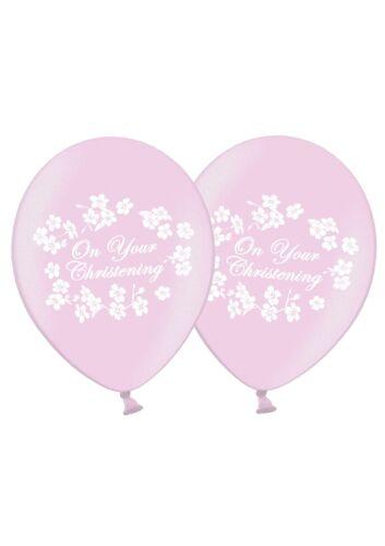"""Sur Votre Baptême 12/"""" Imprimé Latex Ballons Rose 25 ct by Party Decor"""