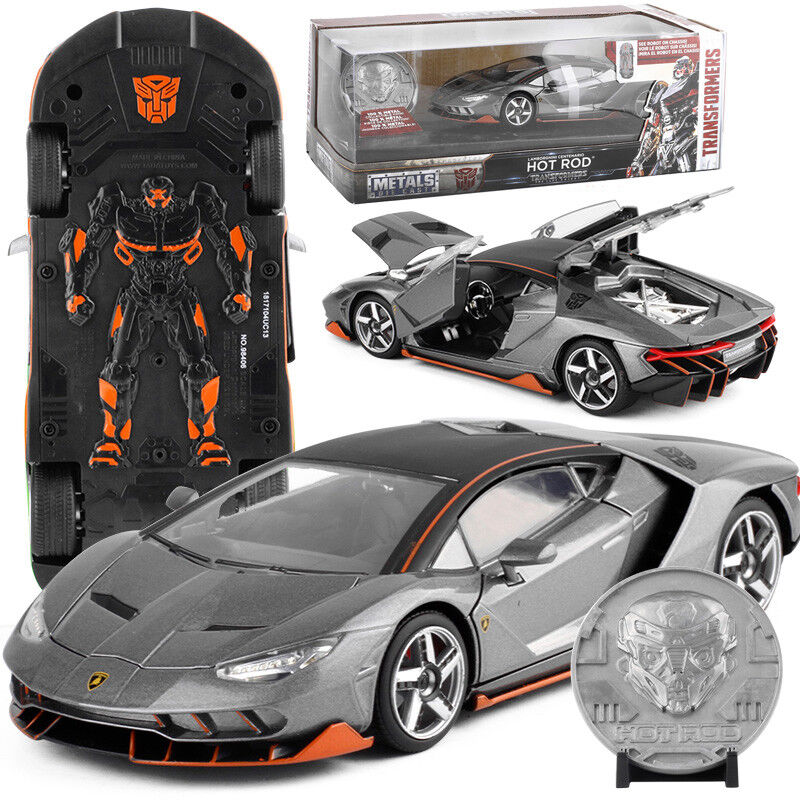JADA 1: 24 TRANSFORMERS HOT ROD LAMBORGHINI CENTENARIO METAL DIECAST CAR GIFT