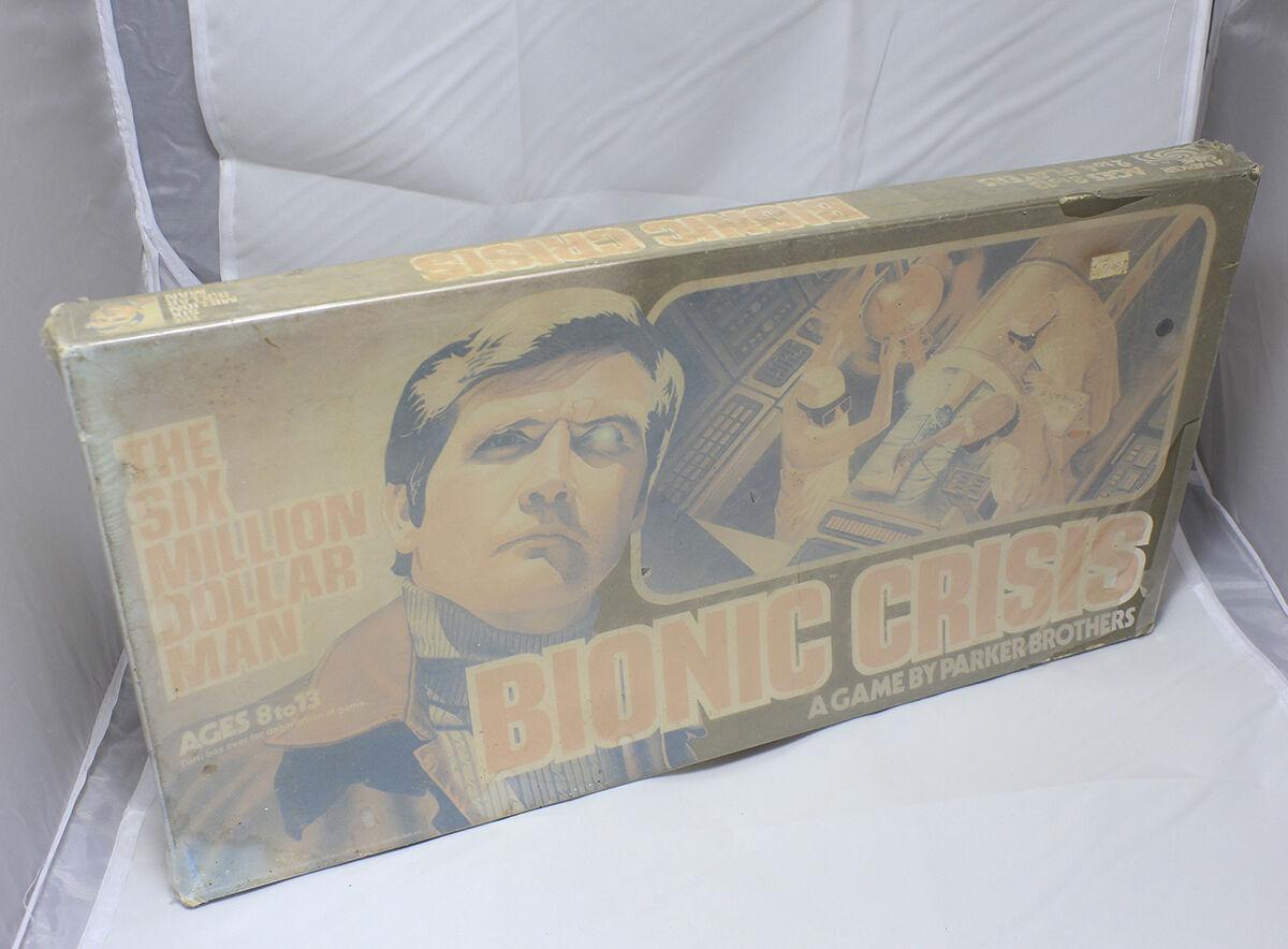 Bionische krise 6 millionen dollar mann brettspiel nib fabrik versiegelt, jahrgang 1975
