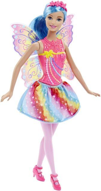 Mattel Barbie DHM56 Regenbogen-Fee Luminoso Ala Gioco Bambola Dreamtopia Nuovo