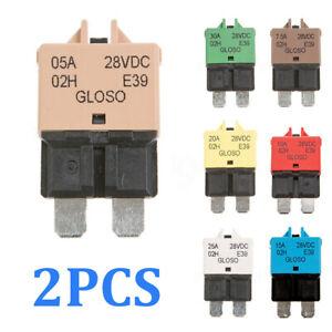 2X-Fuse-Circuit-Breaker-Manual-Reset-Blade-Car-Automotive-Resetable-10-15-20-25A