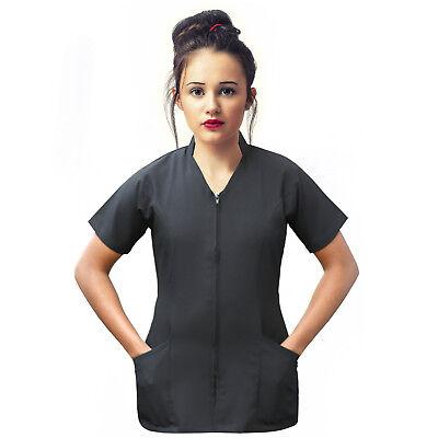 Bescheiden Beauty Tunic Salon Spa Therapist Nail Hairdressing Black Tunic Salon Uniform