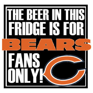 CHICAGO BEARS BEER REFRIGERATOR MAGNET TOOL BOX LOCKER CHRISTMAS GAG ...
