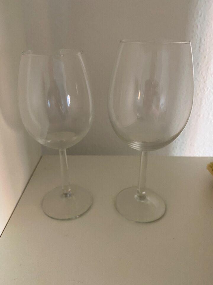 Glas, Rødvin og hvidvinsglas, Ved ikke