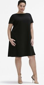 MM-LaFleur-Women-s-The-Georgia-Dress-PLUS-16W-1X-Solid-Black-Any-Occasion