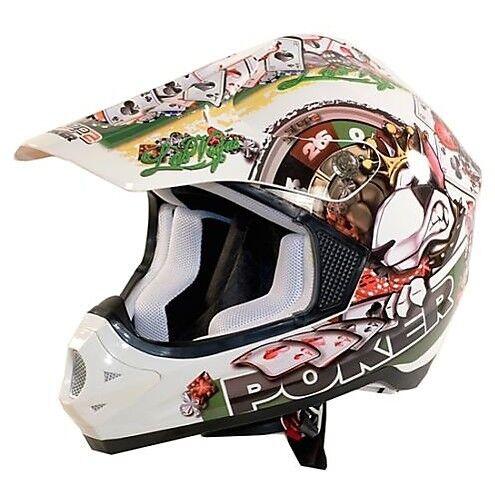 Casco Moto Cross One 77446900 Poker Bianco