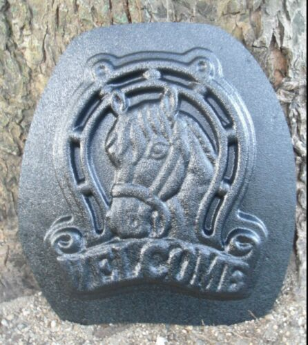 Horse pony Texas mold garden plaque casting mould