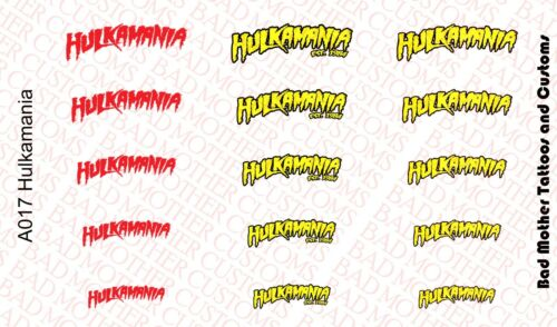 Petite échelle Hulkamania Logo Waterslide Decals for Action Figures Hulk Hogan