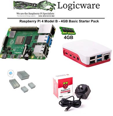 Details about  Raspberry Pi 4 Model B 4GB | Includes Case, Power Supply, Heatsinks, PI4 4GB