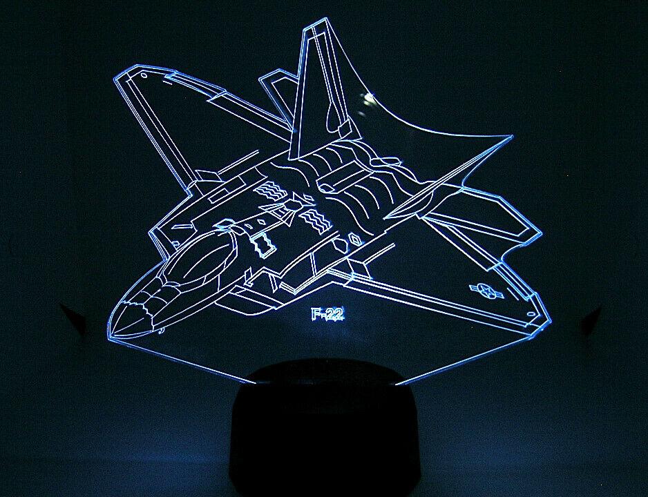 F  22 RC EDF Airplane 3D Acrylic Light with Extras  compra meglio