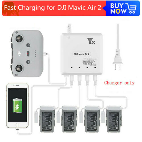 6 in 1 Intelligent Fast Charging Hub Multi Battery Charger for DJI Mavic Air 2