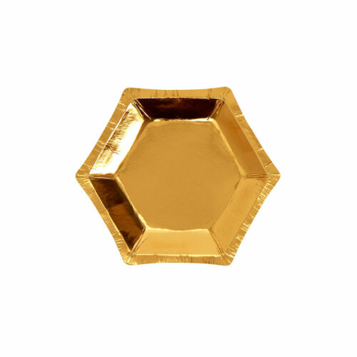 "8 x Gold 5/"" Canape Foil Plates Ladies Glitz Birthday Party Tableware Supplies"