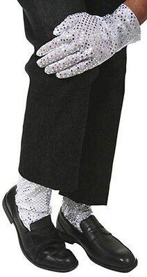 Michael Jackson Costume Silver Sequin Leggings and Glove