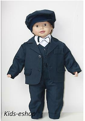 Baby Boy Navy Outfit Shirt Waistcoat Trousers Smart Wedding Formal Party Suit Superior Performance
