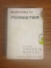 1998 Subaru Forester owners Manual