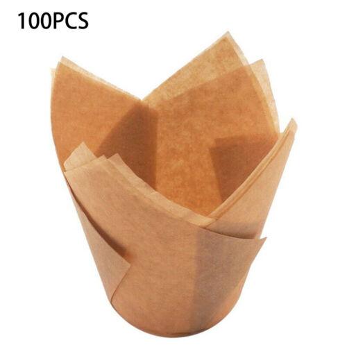 100pcs Muffin Kuchen Backen Tassen Cupcake Müllbeutel Gussform Papier