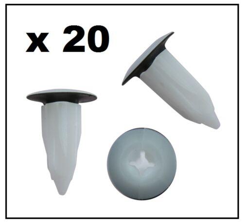 20 X FORD//LAND ROVER Esterno tagliare l/'occhiello dado di bloccaggio con sigillo rondella Nero