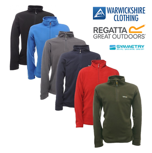 Regatta-Mens-Thompson-Half-Zip-Lightweight-Base-layer-Fleece-Pullover-From-8-99