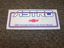 1985 Chevy Astro Minivan Van Owner Owner's User Guide Manual CL CS 4.3L V6