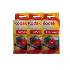 3 Kodak 35mm FunSaver Flash (800 ASA) One Time Use Disposable Camera 11/2018