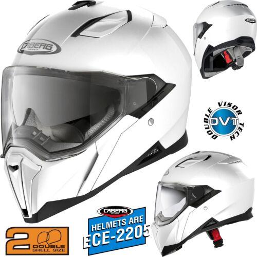 L 59//60 CABERG Integralhelm JACKAL weiss mit Sonnenblende Motorrad Helm Gr