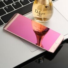 Rose Gold Ultrathin Metal Anica A7 mirror Cellphone Bluetooth Dual SIM Mobile