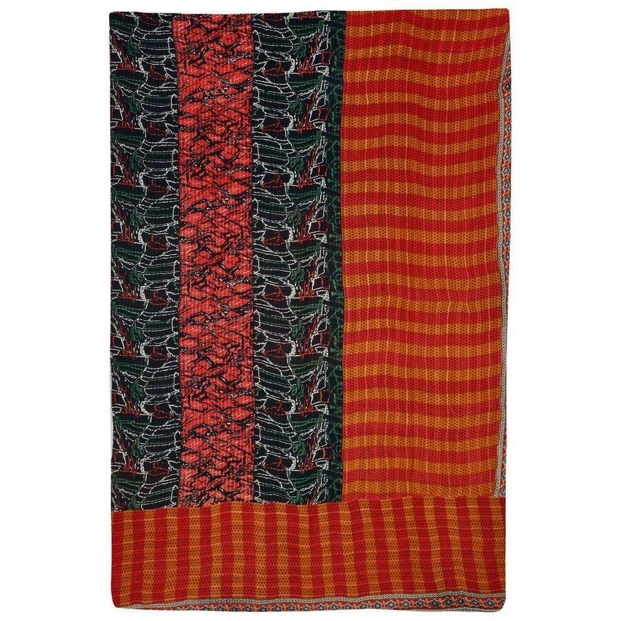 Indian Print Kantha Quilt Pure Cotton Reversible Handmade  Ralli Gudri