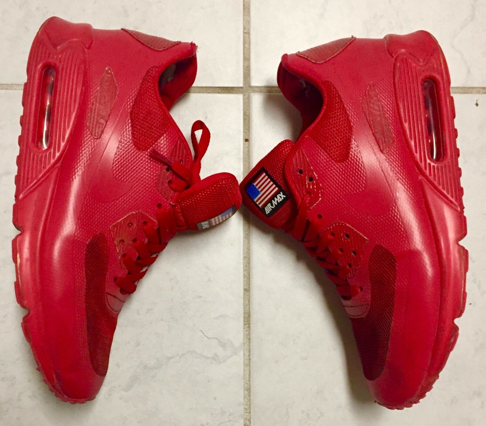 Nike Air Max 90 Rare Independence Day Sz 11 ROT/ROT Rare 90 USA e5418e