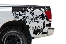 Vinyl Graphics Decal Wrap for Nissan Titan Truck 04-13 DOUBLE SKULL Matte Black