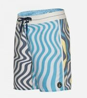 2015 Mens Volcom Splanger Boardshorts $60 32 Matured Blue Swimsuit Swimming