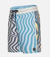 2015 Mens Volcom Splanger Boardshorts $60 32 Matured Blue Swimsuit Swimming