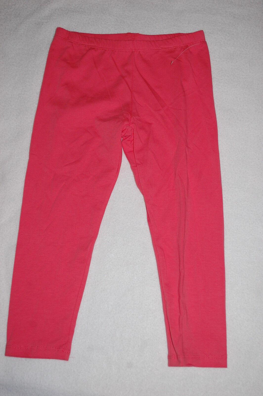 Girls Capris CORAL ORANGE CROPPED LEGGINGS Size M 7-8 for sale online