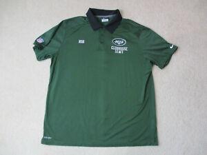 Nike-New-York-Jets-Polo-Shirt-Adult-Extra-Large-Green-Black-Dri-Fit-Football-Men