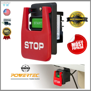 220V Easy-to-Use PowerTec Tool Paddle Switch Toggle Safety Electrical Box 110V