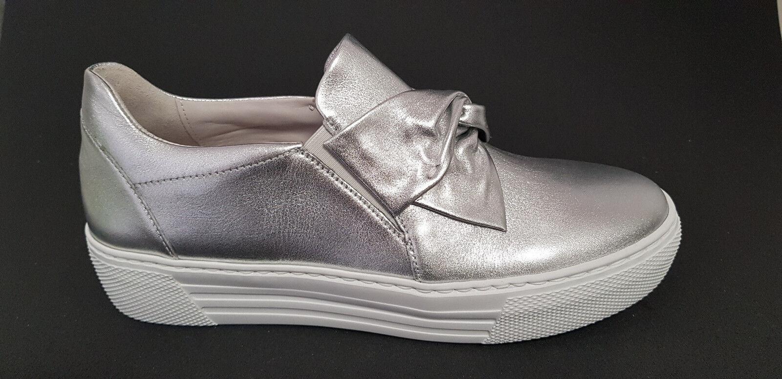Gabor Comfort Damen Sneaker Slipper Schuhe 86.463.10 86.463.10 86.463.10 silber lamina NEU cca84c