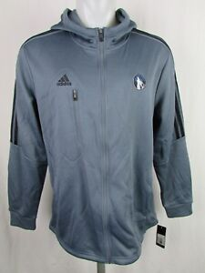 Minnesota-Timberwolves-Men-039-s-Climawarm-Full-Zip-Jacket-NBA-adidas-L-XL-XL