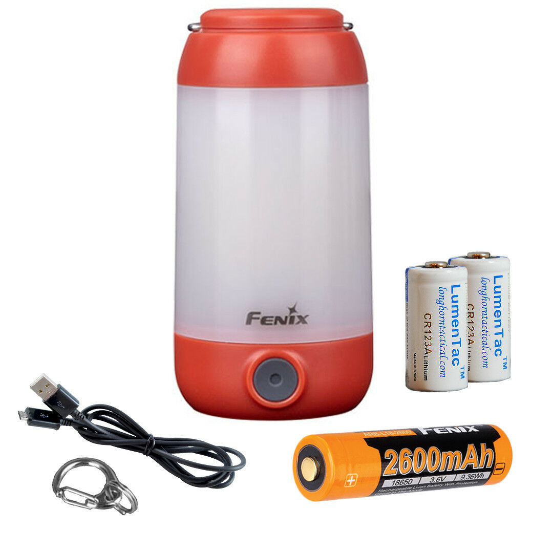Fenix CL26R 400 Lumen Red White LED Tent Light Lantern with 3x Batteries