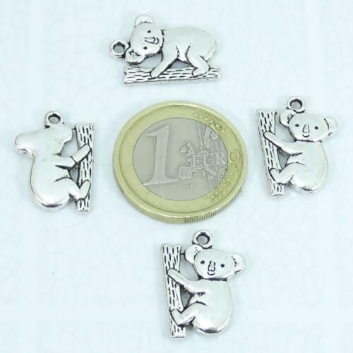 21 Pendants Koala 20mm T408X Silver Tibetan Charms Teddy Bear