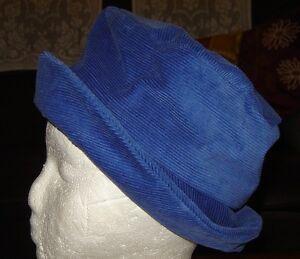 Ladies-Blue-Corduroy-Hat