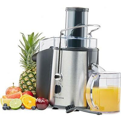 Andrew James Chrome Whole Fruit Power Juicer Vegetable Citrus Extractor 850W