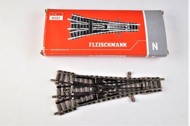Fleischmann N 9157 /  3-Wege-Weiche  ( ohne Antrieb ) / NEU