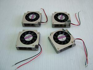 Miniature-blower-fan-cooling-CPU-Lot-of-4-35X35X10mm-UNITEDPRO-B3510X05B-New