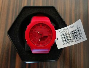 Casio-G-Shock-GA-2100-4A-Carbon-Core-Guard-Super-Red-Brand-new