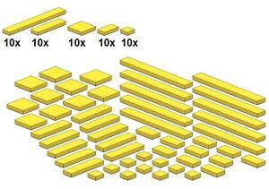 Lego-Bricksy-039-s-Bascis-Gelb-G03-Glatte-Teile-Yellow
