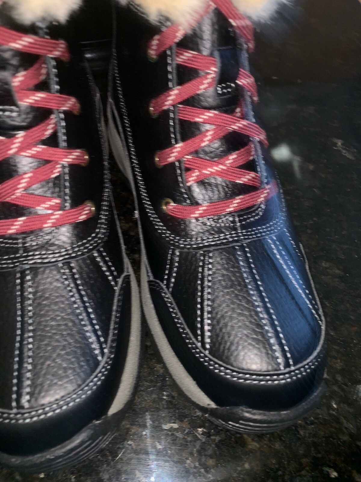 Clarks Boots Boots Boots Black Leather Mazlyn Arctic Water Resistant Size 6.5 M b143dc