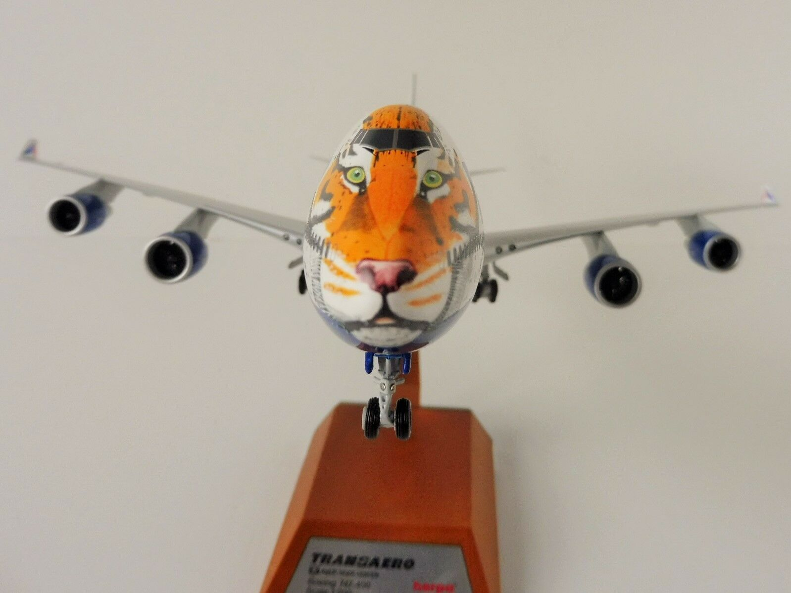Cupido Tiger Transaero Airlines Boeing 747-400 1/200 Herpa 557917 747 Modello in