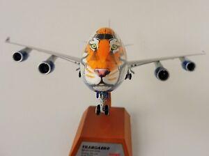 AMUR-TIGER-TRANSAERO-Airlines-BOEING-747-400-1-200-Herpa-557917-747-METALLMODELL