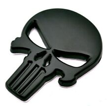 "3D Black Metal PUNISHER SKULL Sticker 2.25"" x 1.75 for your Car, Truck, Bike #19"